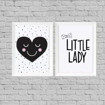 Kit quadro infantil little lady