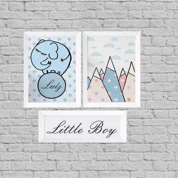 Kit quadro infantil little boy