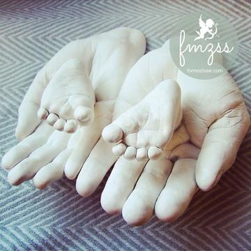Kit p/ Réplicas Pés ou Mãos Bebê +Mamãe