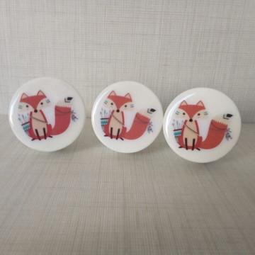 Puxador estilo Porcelana raposa