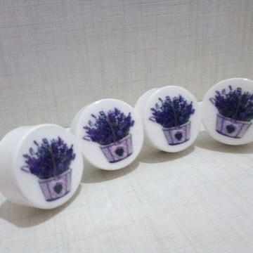 Puxador estilo Porcelana lavanda