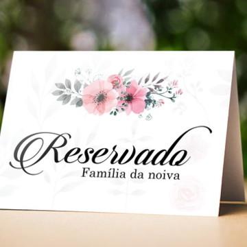 Placa reservado de mesa de casamento