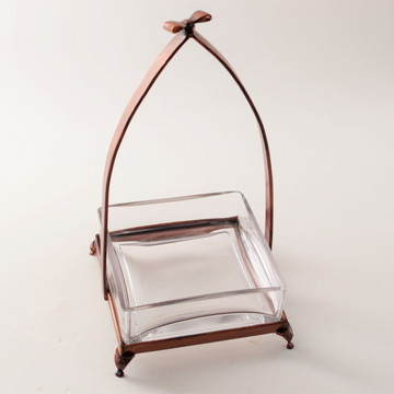 Bombonière de vidro e ferro