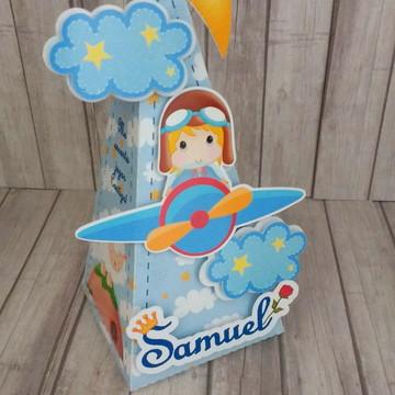 Caixa cone Pequeno Príncipe Aviador