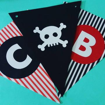 Bandeirola Decoração festa Pirata