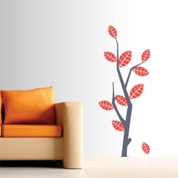 Adesivo de parede árvore de outono