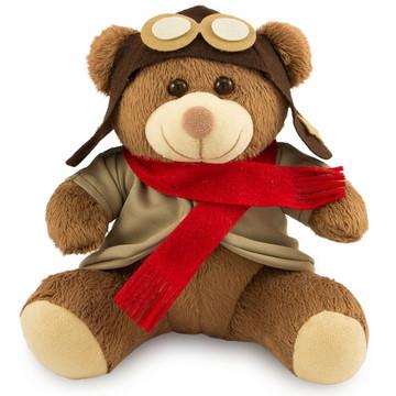 Urso de Pelúcia Aviador 20cm