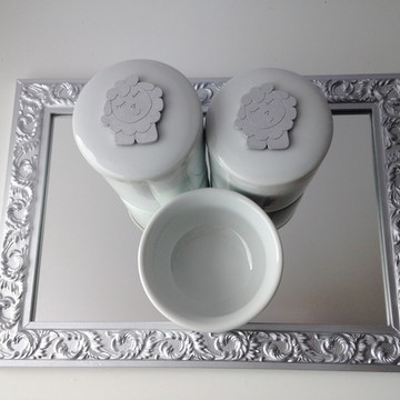 Kit Higiene Ovelhinha Tita Prata
