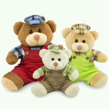 Trio De Ursinhos de Pelúcia