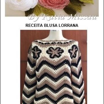 Receita Blusa Lorrana em Pdf