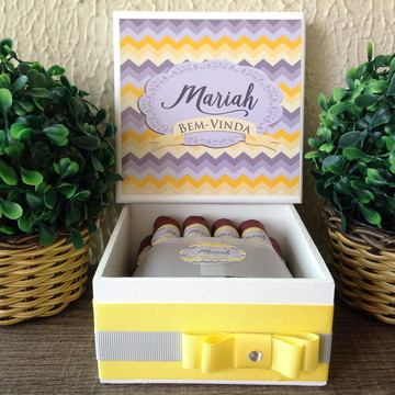Mini Caixa de Charutos Chocolate yellow