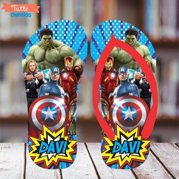 Chinelo Personalizado Super Heróis 2