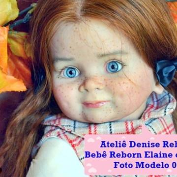 Boneca Bebê Reborn Elaine ou Elias parece bebe de verdade