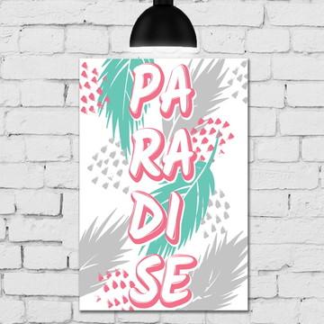 Placa Decorativa MDF 20x30 Paradise