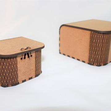 CAIXA EM MDF - CURVE BOX MINI P