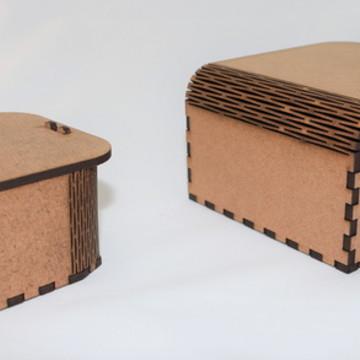 CAIXA EM MDF - CURVE BOX MODELO MINI M