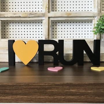 Palavra decorativa I Love RUN