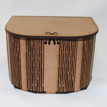CAIXA EM MDF - CURVE BOX MODELO BAÚ