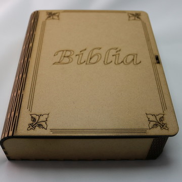 CAIXA EM MDF CURVE BOX MOD PORTA BIBLIA