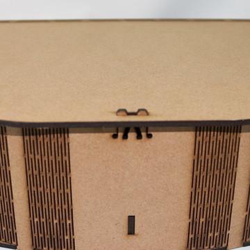CAIXA EM MDF - CURVE BOX MODELO GRANDE