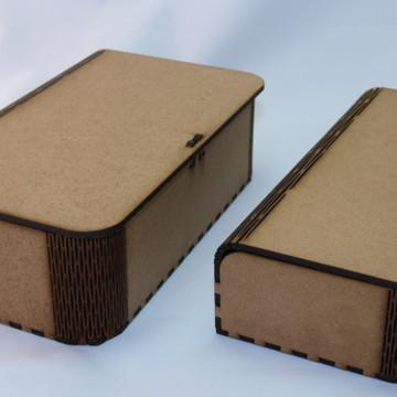 CAIXA EM MDF - CURVE BOX MODELO ESTOJO M