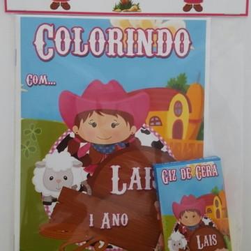 kit de colorir Fazedinha Menina