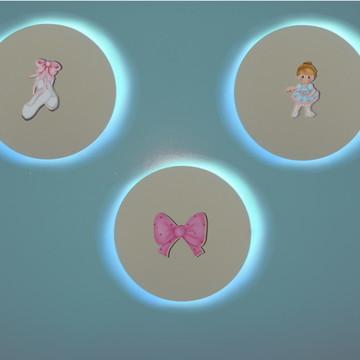 3x circulos luminária bailarina