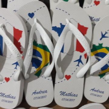 HAVAIANAS PERSONALIZADA BRASIL E FRANÇA