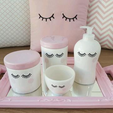 Kit higiene cílios olhinhos