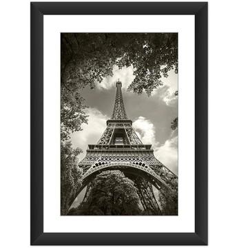 Quadro Torre Eiffel Paris Retro Natureza