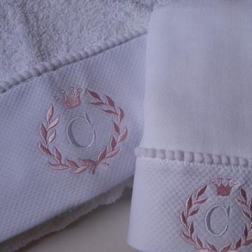 toalha capuz + toalha fralda