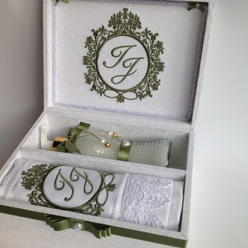 Caixa Personalizada Padrinhos Casamento- kit lavabo