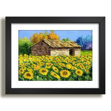 Quadro Casa Flores Girassois Decor F50
