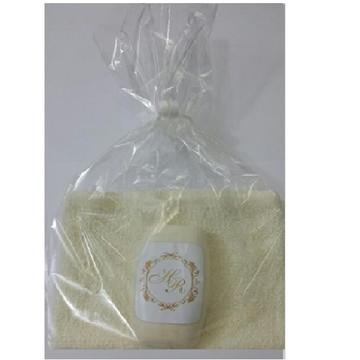 Sabonete e toalha lembrancinha casamento