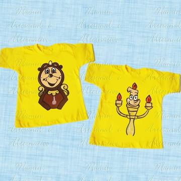 Camisetas Bela e Fera Personagem
