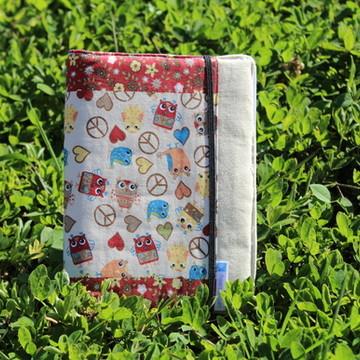 Caderno Pequeno - Corujinha Paz & Amor