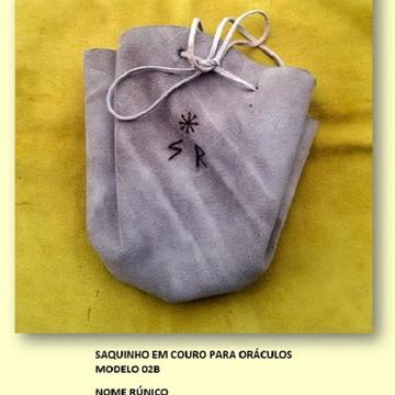 SAQUINHO DE COURO MOD. 02B NOME