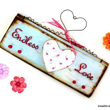 Porta-chaves rústico Endless love