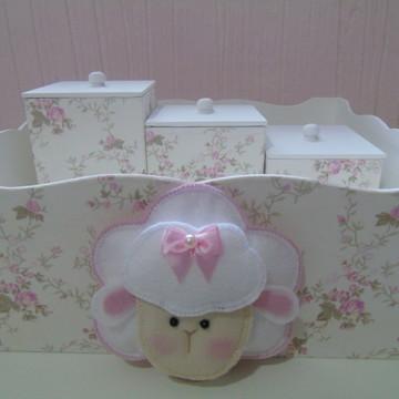Kit Higiene Ovelha rosa
