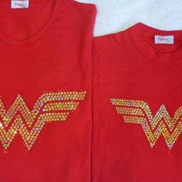 Camiseta Mãe & Filha Mulher Maravilha
