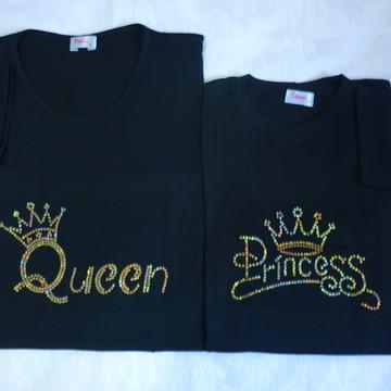 Camiseta Mãe & Filha Rainha e Princesa
