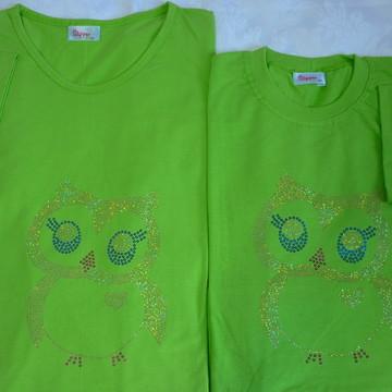 Camiseta Mãe & Filha - Mãe Coruja
