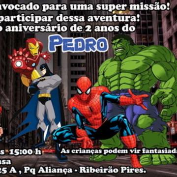 convite super herois ingresso