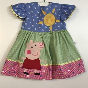 Vestidinho infantil Peppa