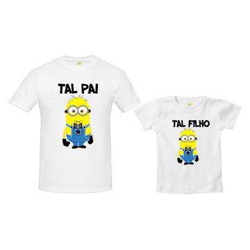 Camiseta Pai e Filho Minions Gravatinha