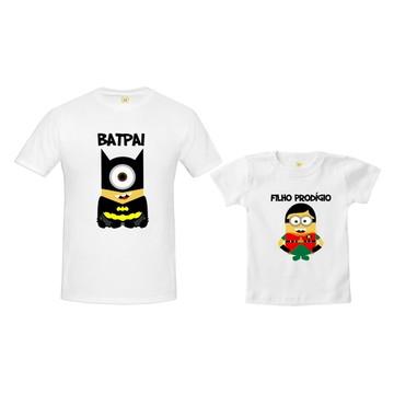 Kit Camiseta Minions Batman e Robin