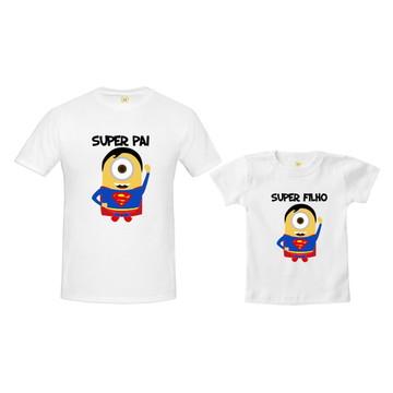 Kit Camiseta Minions Super Homem