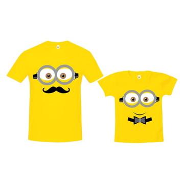 Kit Camiseta Carinha de Minions