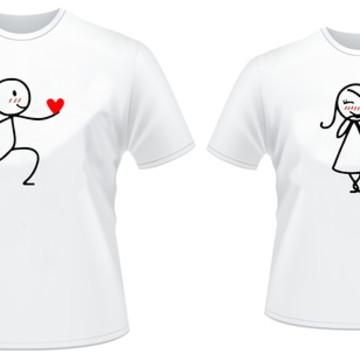 Kit 2 Camisetas Casal de Namorados