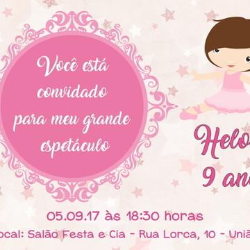 Convite Digital Bailarina 05